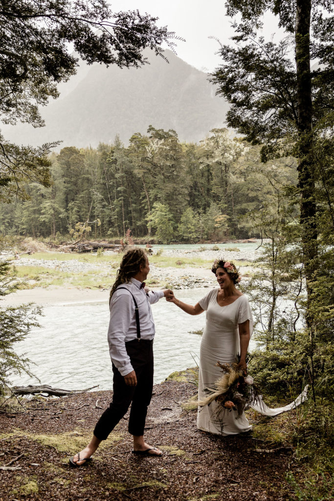 Sam and Sharlene at the Routeburn - Susan Miller Photography
