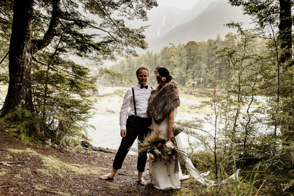 Sam and Sharlene in the Routeburn Forest - Susan Miller Photography