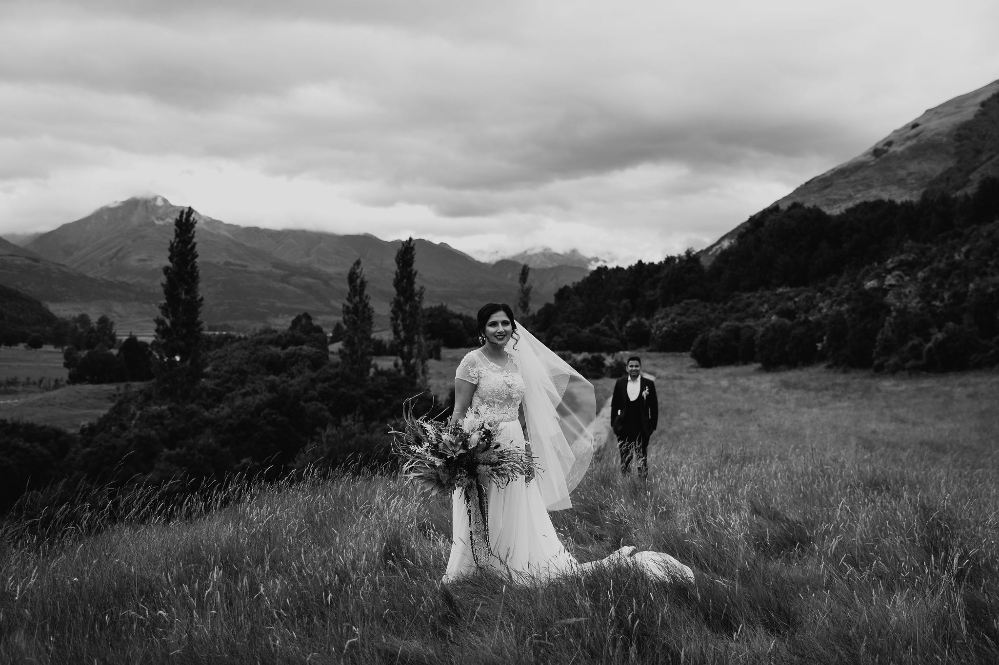 Bride and Groom at Paradise Trust