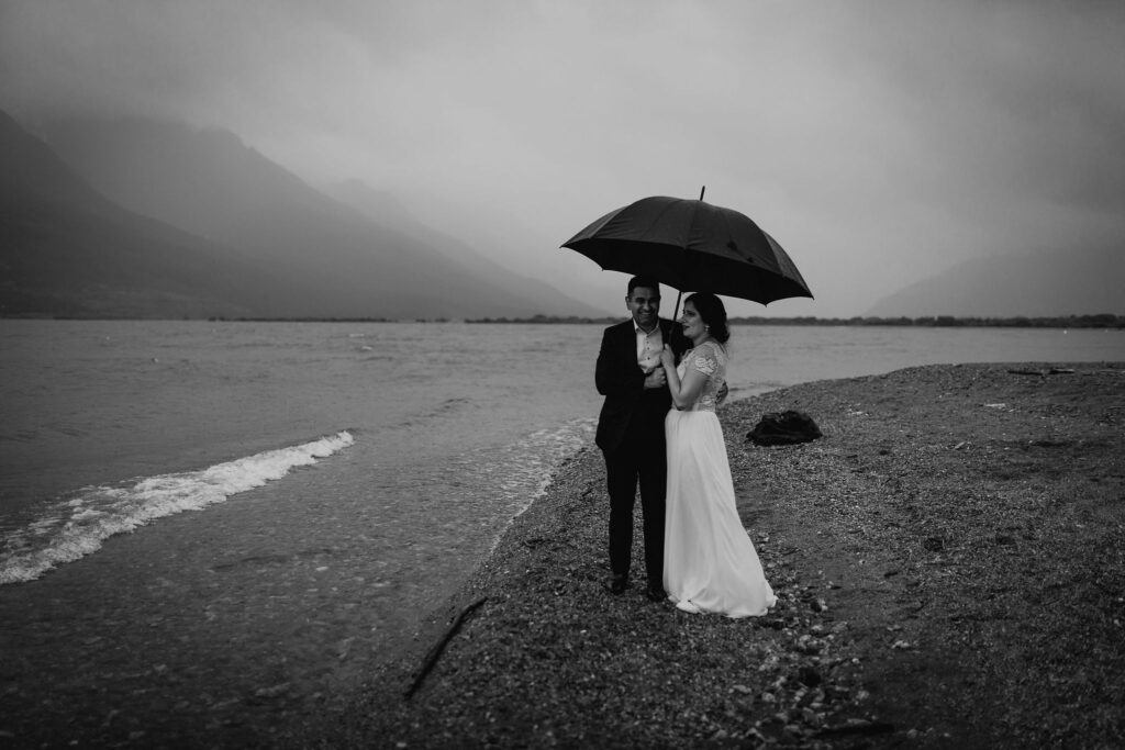 And then the rain came down at Glenorchy lake shore