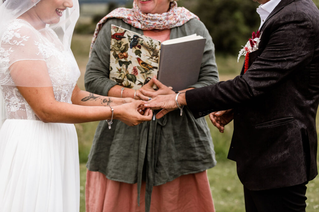 Giving of rings - Boutique Wedding at Paradise Trust