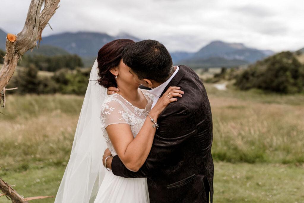 First kiss as Mrs & Mrs