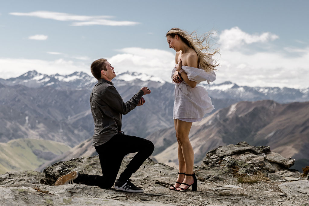 The moment she said Yes - Cecil Peak - Queenstown