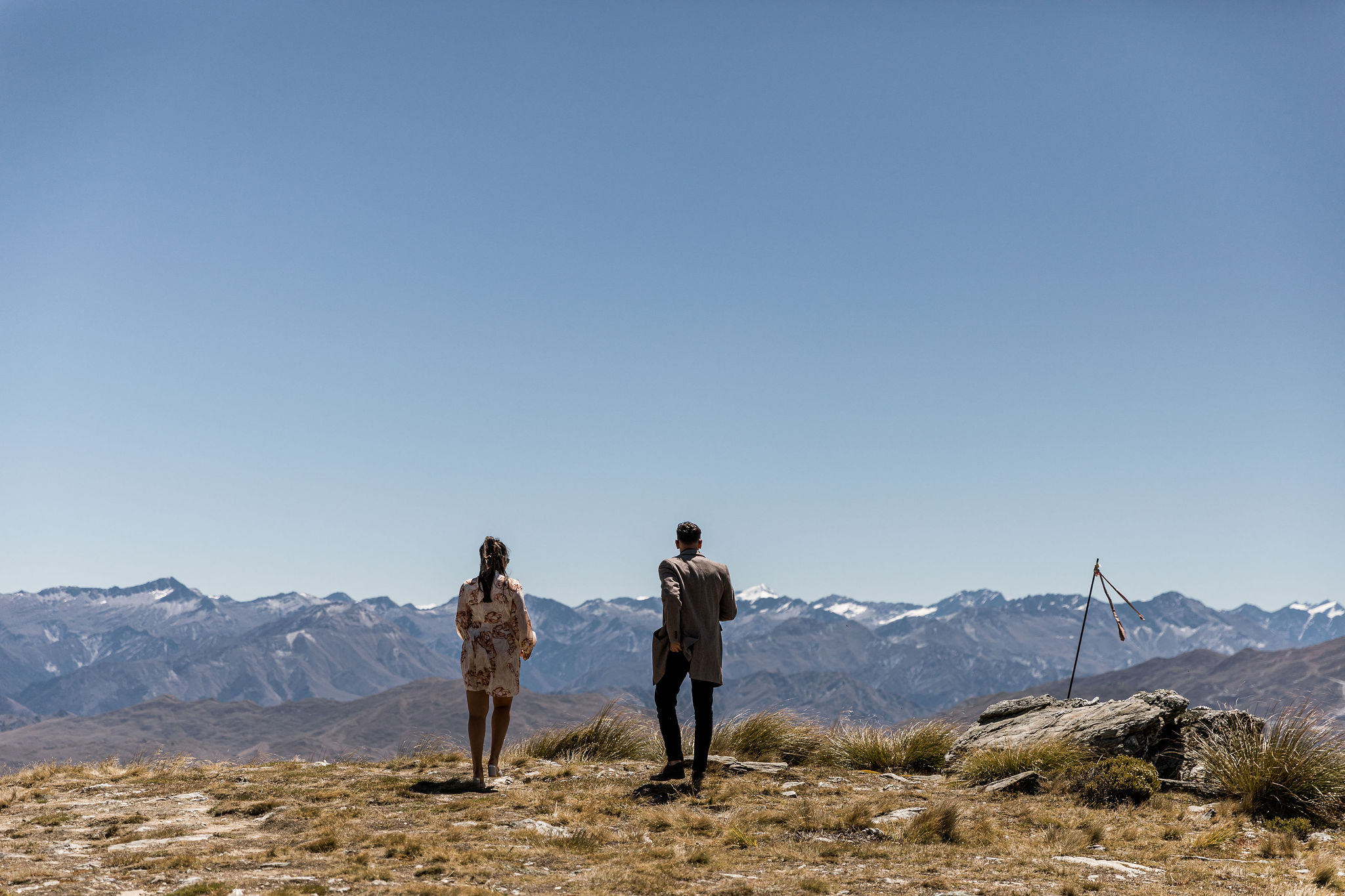 Ready to propose on the Remarkables Mountain Range