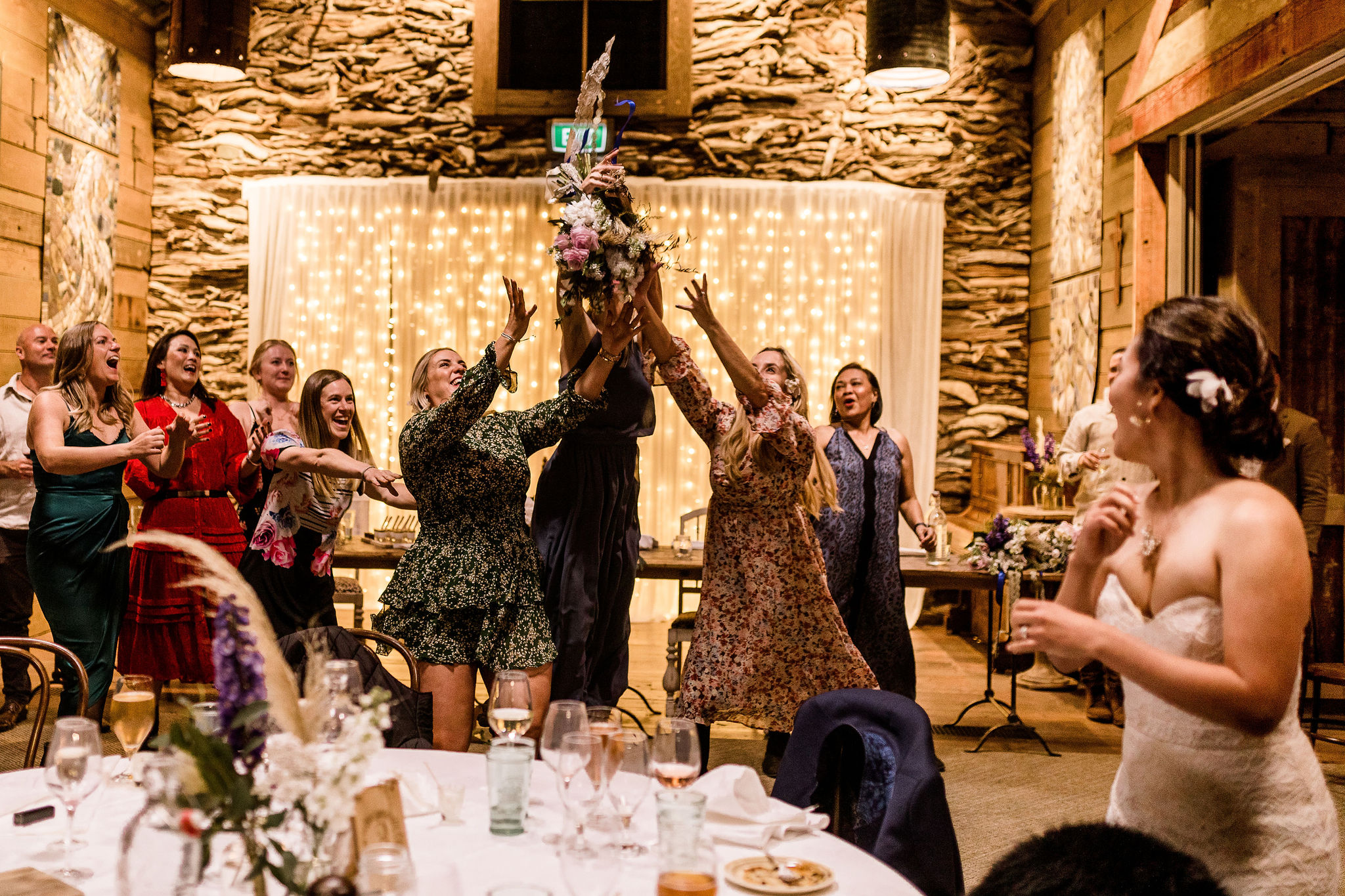 The Bouquet Throwing - Susan Miller Photography